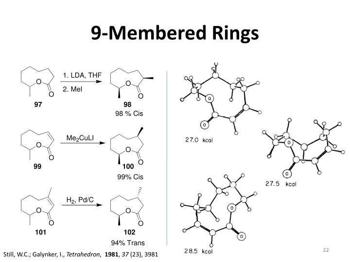 9-Membered Rings