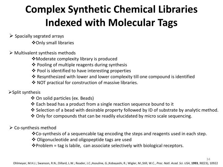 Complex Synthetic Chemical Libraries Indexed with Molecular Tags