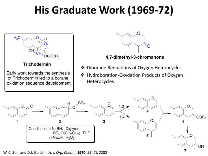 His Graduate Work (1969-72)