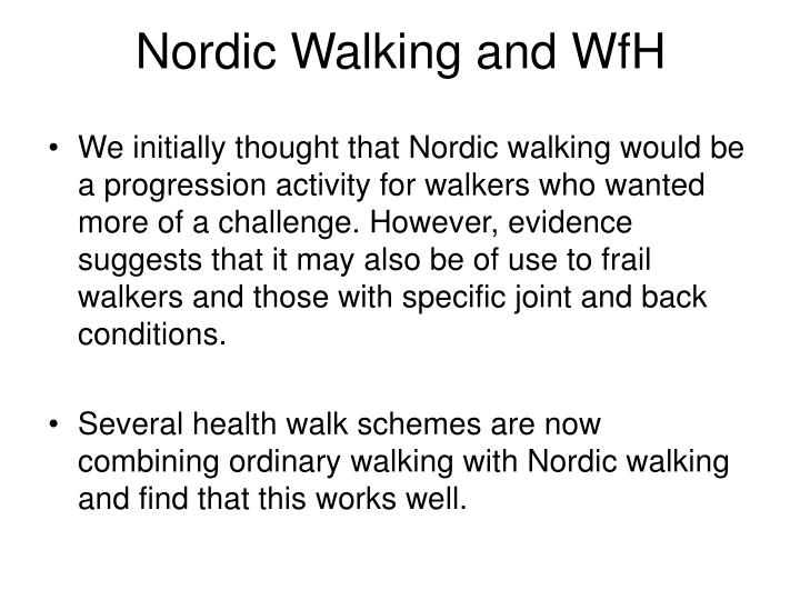 Nordic Walking and WfH