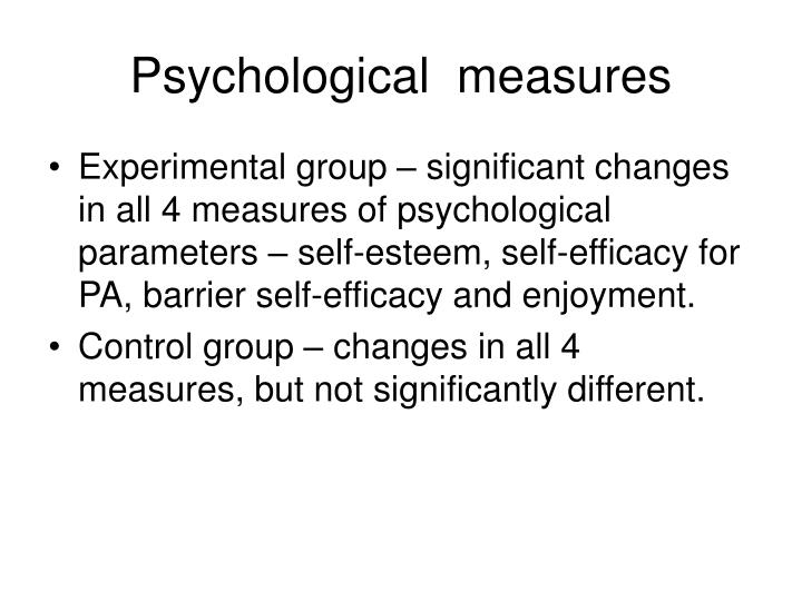 Psychological  measures