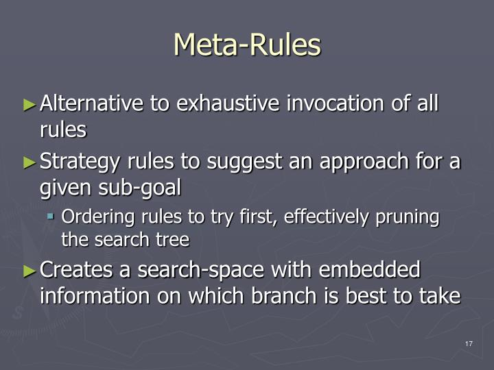Meta-Rules