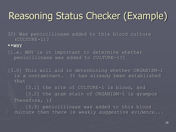 Reasoning Status Checker (Example)
