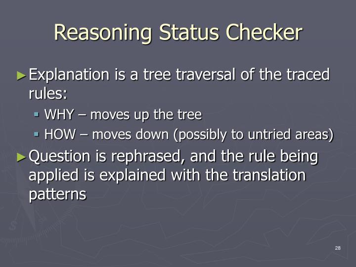 Reasoning Status Checker