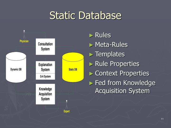 Static Database