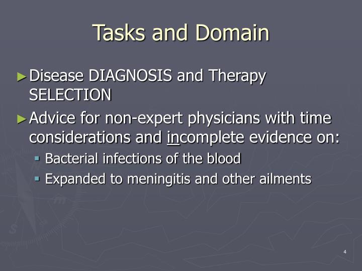 Tasks and Domain