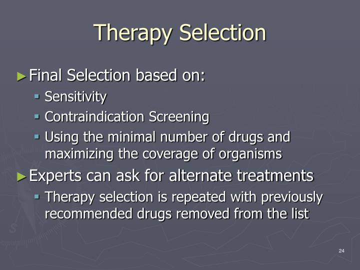 Therapy Selection