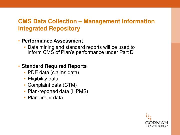 CMS Data Collection – Management Information Integrated Repository