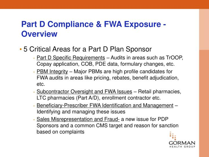 Part D Compliance & FWA Exposure - Overview