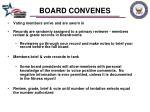 board convenes