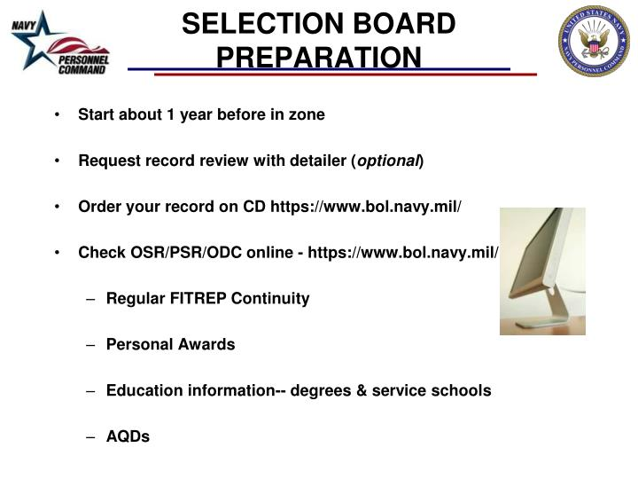 SELECTION BOARD