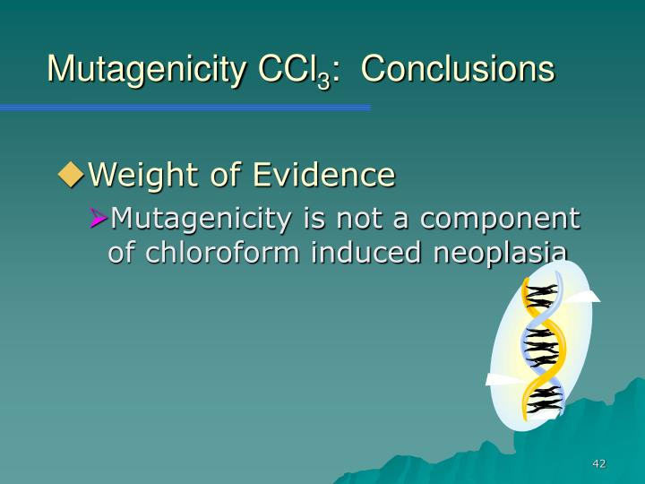 Mutagenicity CCl