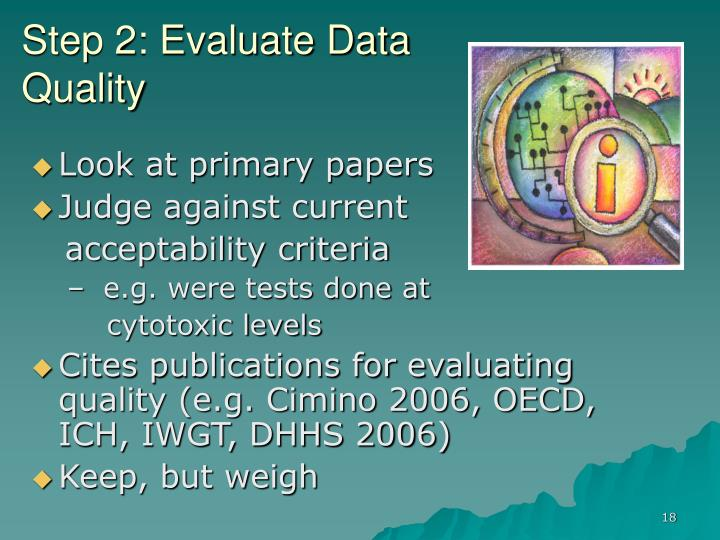 Step 2: Evaluate Data