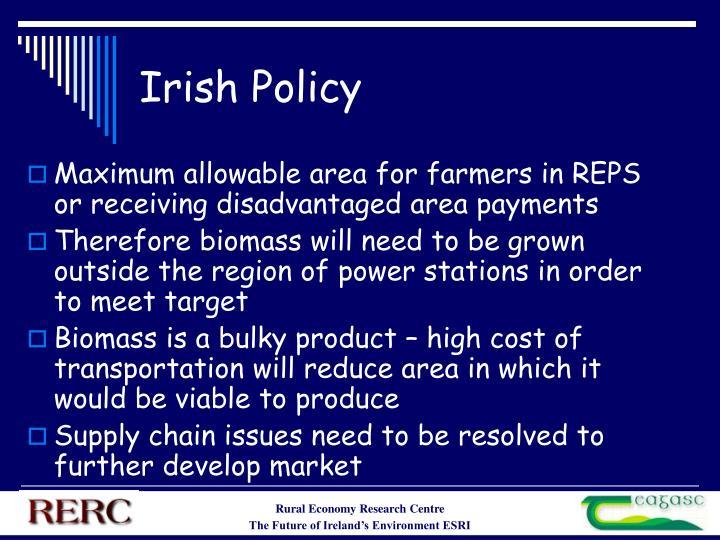 Irish Policy