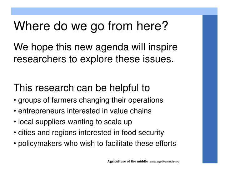 We hope this new agenda will inspire researchers to explore these issues.