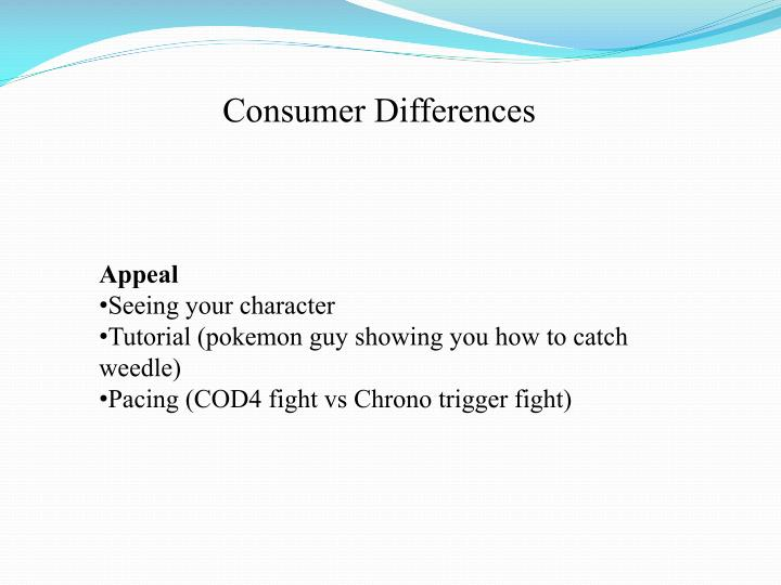 Consumer Differences