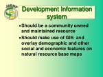 development information system