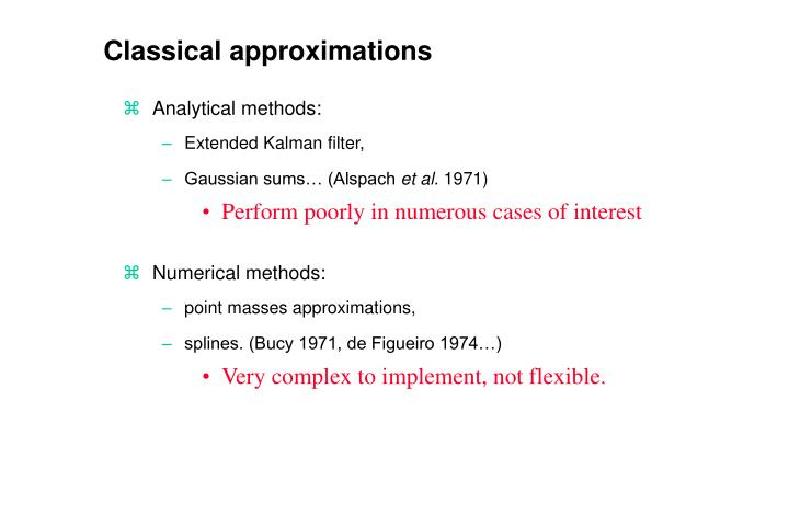 Classical approximations