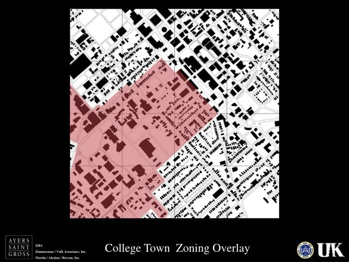 College Town  Zoning Overlay