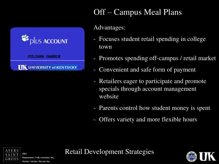 Off – Campus Meal Plans