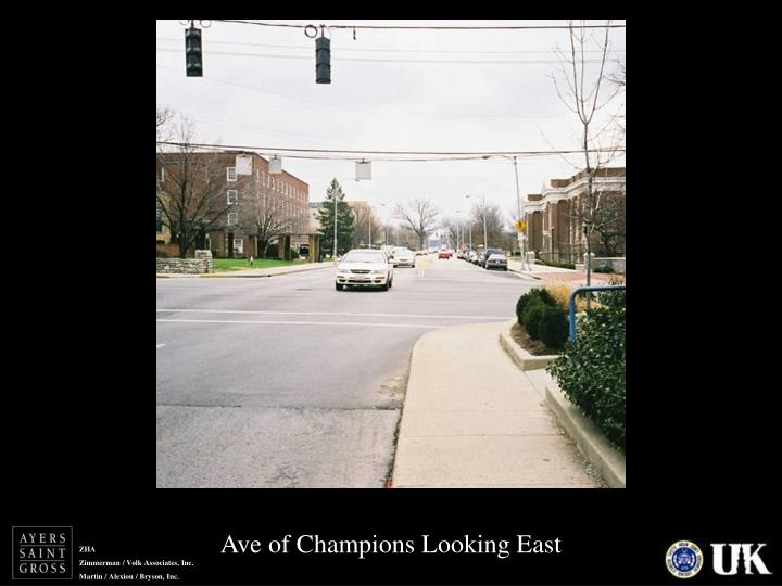 Ave of Champions Looking East