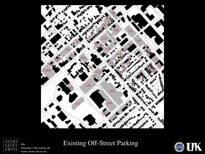 Existing Off-Street Parking