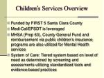 children s services overview