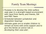 family team meetings