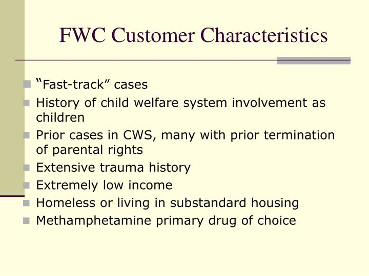 FWC Customer Characteristics