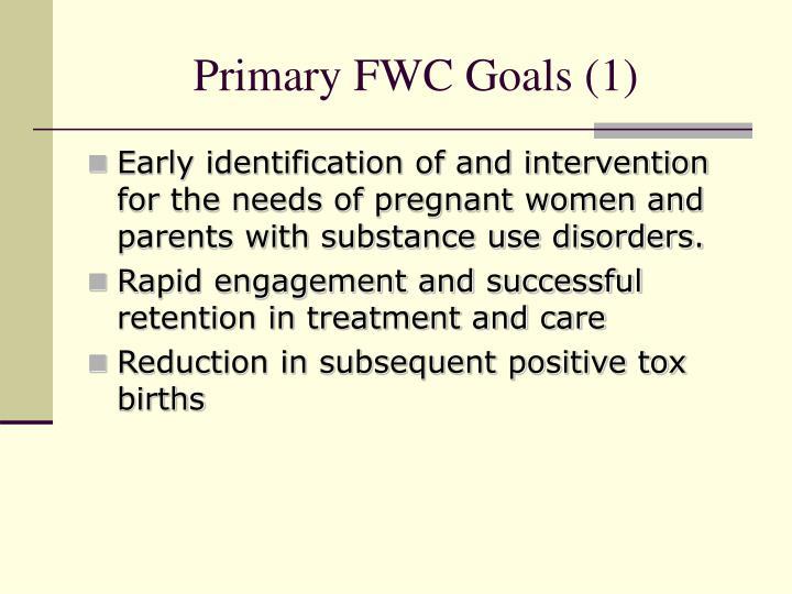 Primary FWC Goals (1)