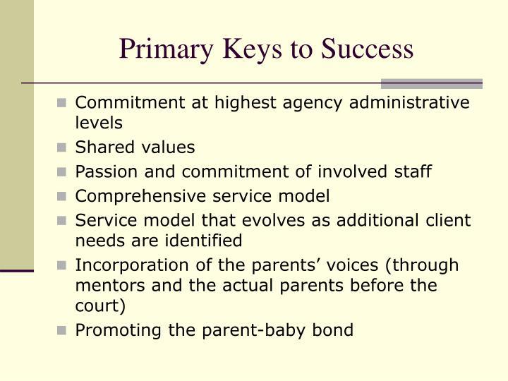 Primary Keys to Success