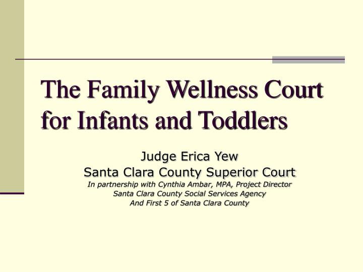 The Family Wellness Court for Infants and Toddlers