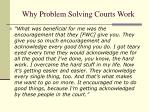 why problem solving courts work