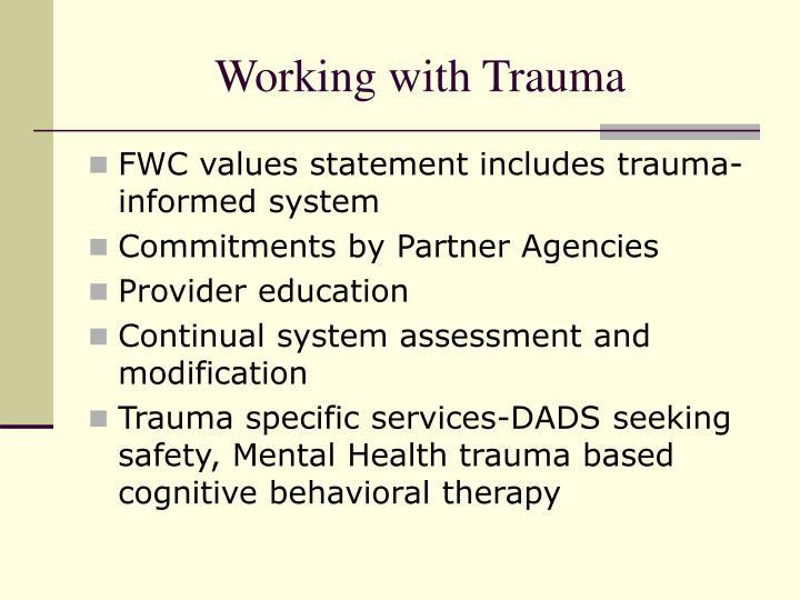 Working with Trauma