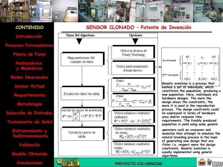 SENSOR CLONADO – Patente de Invención