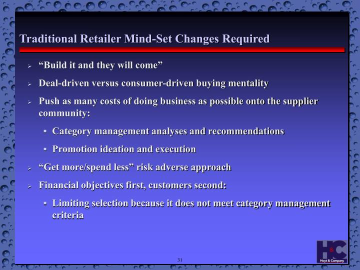 Traditional Retailer Mind-Set Changes Required