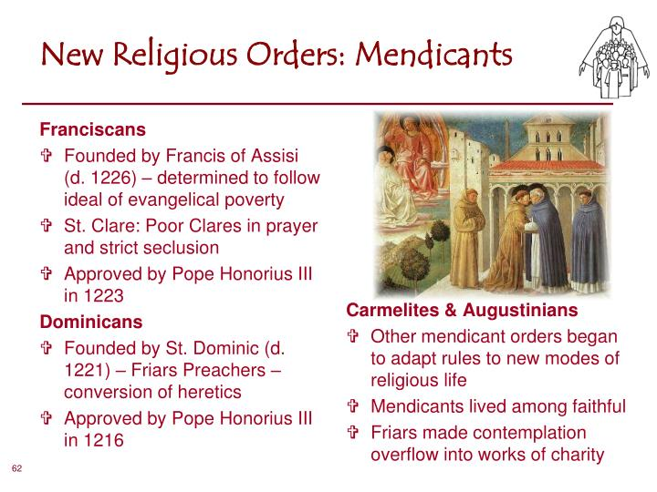 New Religious Orders: Mendicants