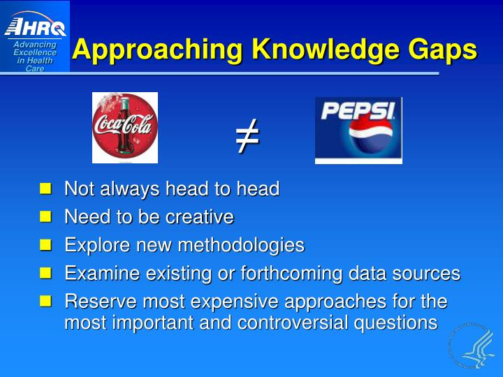 Approaching Knowledge Gaps