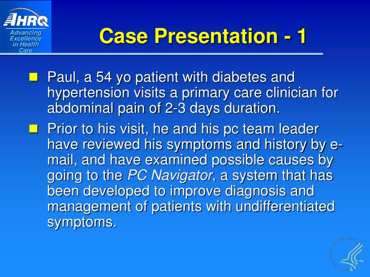 Case Presentation - 1