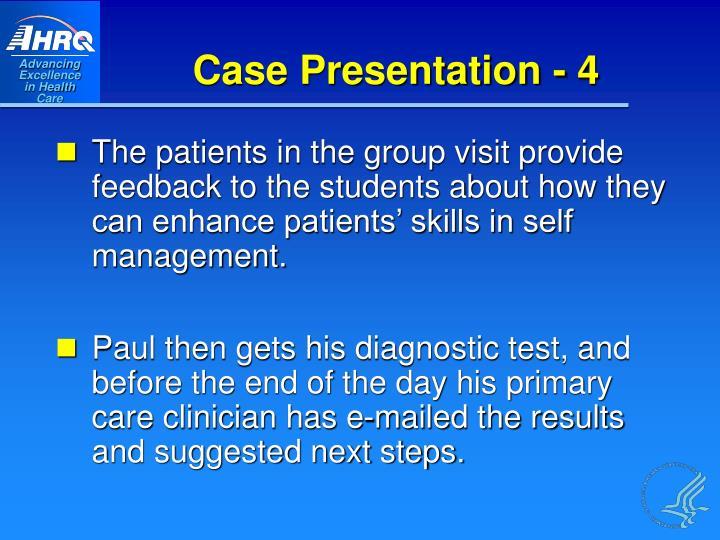 Case Presentation - 4