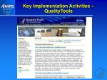 key implementation activities qualitytools