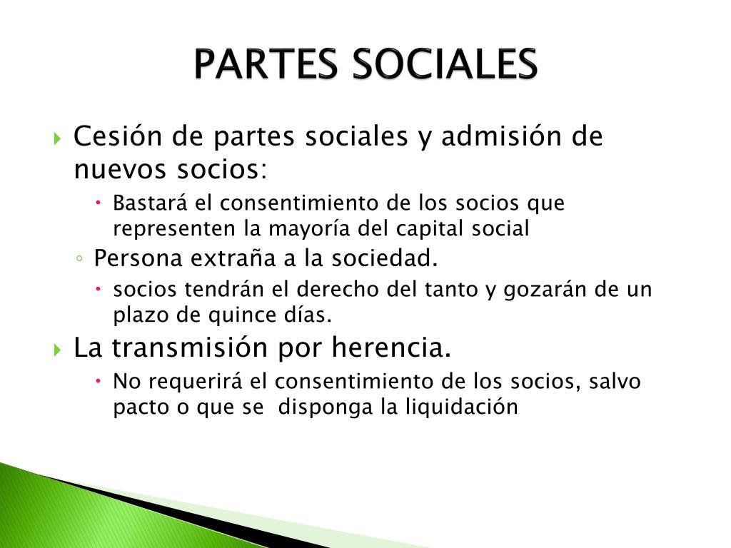 PARTES SOCIALES