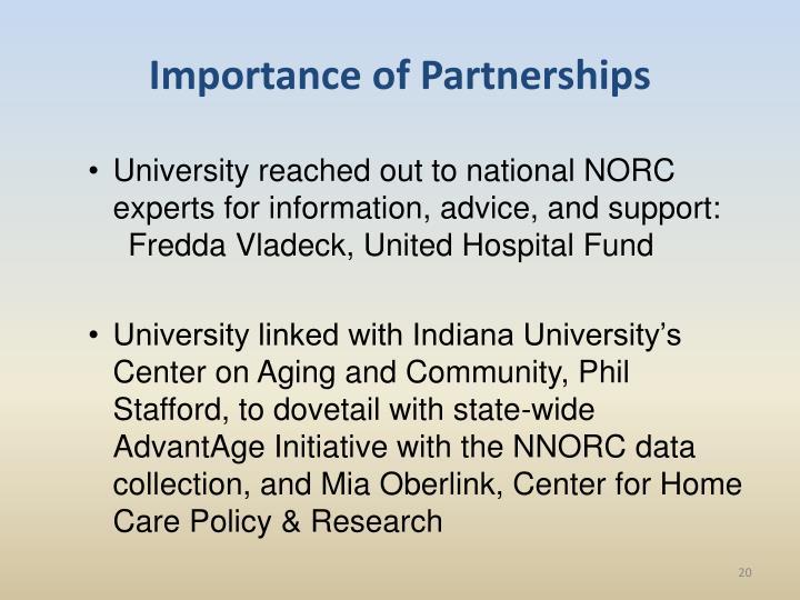 Importance of Partnerships