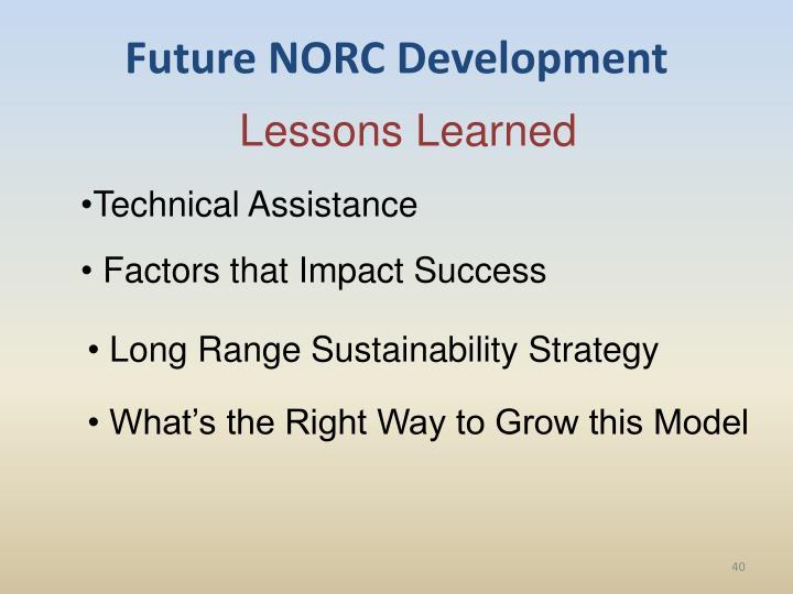 Future NORC Development