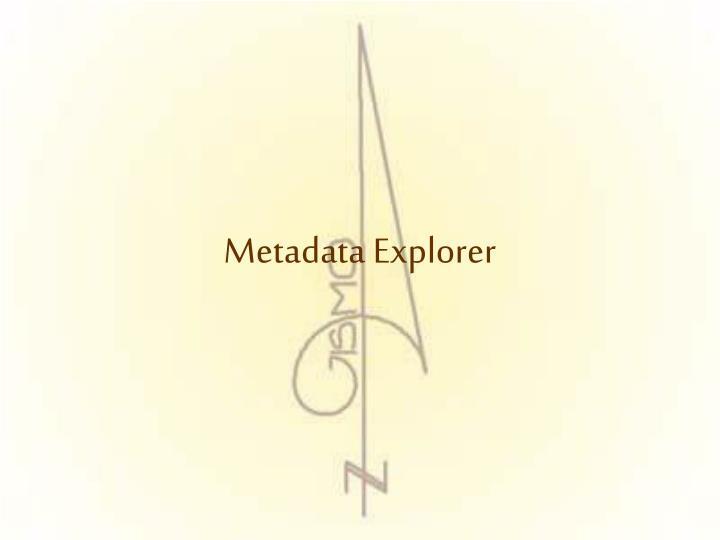 Metadata Explorer
