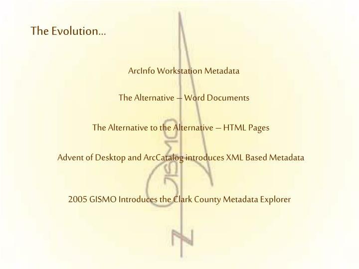 ArcInfo Workstation Metadata