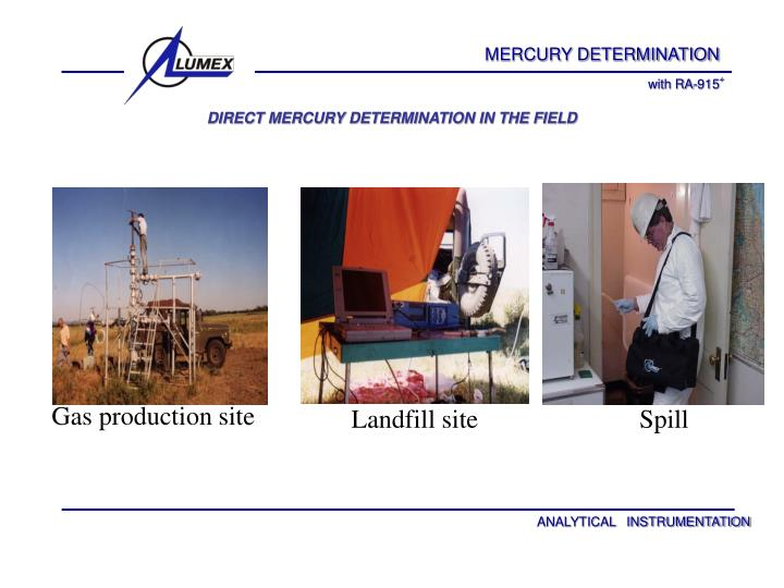 Direct mercury determination in the field