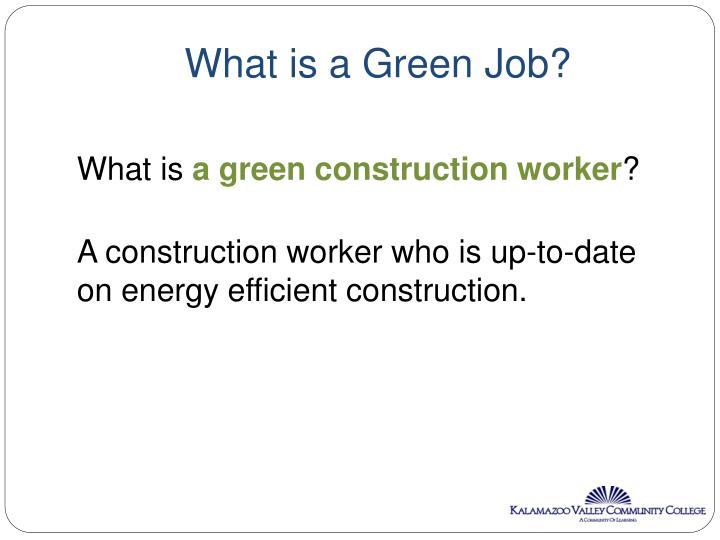 What is a Green Job?