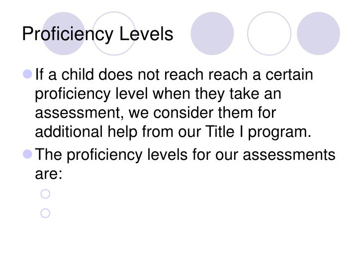 Proficiency Levels
