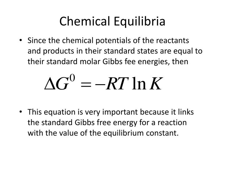 Since the chemical potentials of the reactants and products in their standard states are equal to their standard molar Gibbs fee energies, then